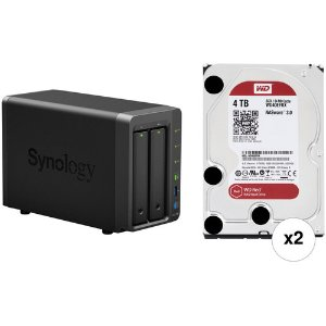 Synology DS718+ 2-Bay NAS with WD NAS Drives (2 x 4TB)