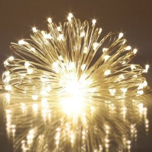 $1.00String Light for Patio Micro 50 Warm White Ray LEDs 5M