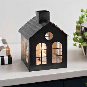 Black Galvanized House Night Light