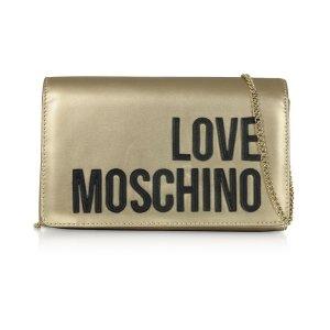 Love MoschinoSignature Laminated Clutch