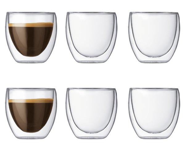 双层玻璃杯 6只  250mL