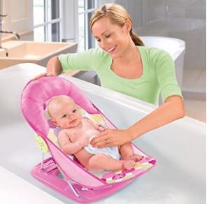$14.99(原价$24.99)Summer Infant 粉色豪华婴儿洗浴架
