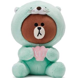 $10.79(原价$35.95) 相当于3折手慢无:LINE FRIENDS 海豹布朗熊玩偶 25厘米款