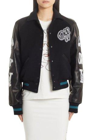 Off-White Vintage College Varsity Bomber Jacket | Nordstrom