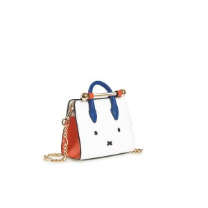 StrathberryThe Strathberry Miniature Tote - Miffy Face White/Maple/Cobalt