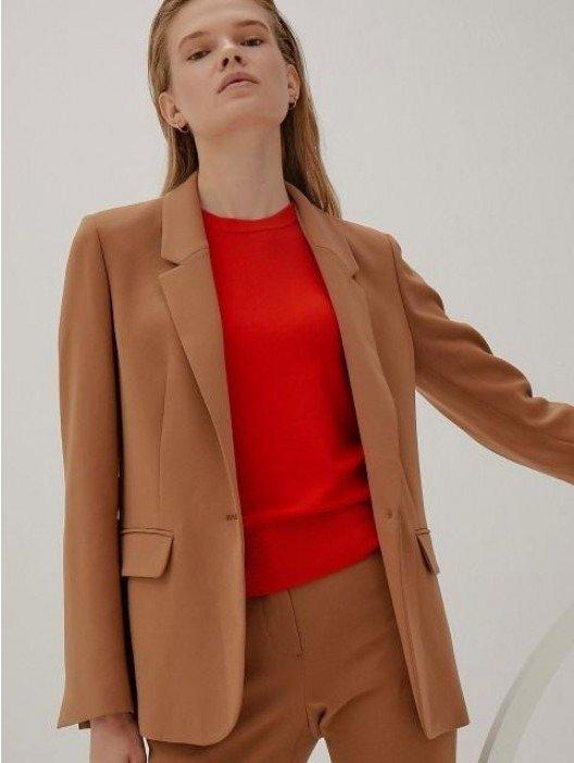 [Drama Collection] Slit Cuffs Tailored Blazer