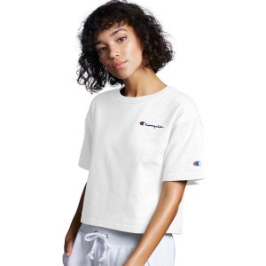 ChampionHeritage Cropped Tee, Embroidered Logo