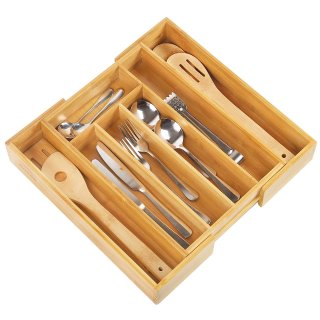 $12.54Artmeer Expandable Bamboo Wooden Utensil Tray with 7 Compartments