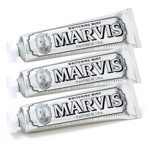 $30.9 (原价$38.6)3只装Marvis 牙膏中的爱马仕银管牙膏75ml
