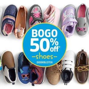 买1双第2双半价 4-12岁儿童鞋都有上新:OshKosh BGosh 童鞋优惠 秋日新款就参加优惠