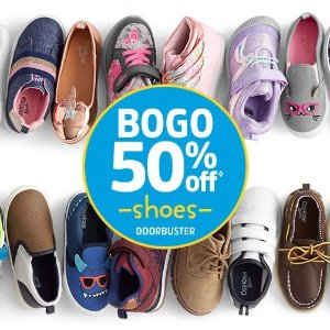 Buy One Get One 50% OffOshKosh BGosh Shoes Doorbuster Sale