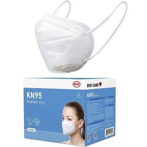 $30补货:BYD KN95 口罩 50个独立包装 GB2626-2006