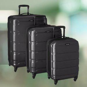 $269.05(原价$587.65)+包邮Samsonite Omni 硬壳行李箱3件套,黑色
