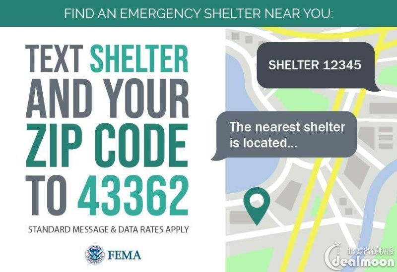 FEMA 查找庇护所
