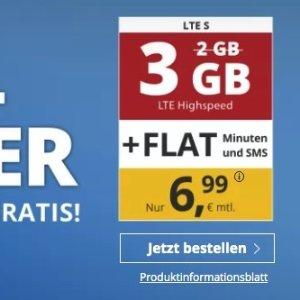 送1GB流量 代号入网送10欧包月电话/短信+3GB高速流量 月租只要6.99欧