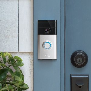 $99.95Ring Wi-Fi Enabled Video Doorbell in Satin Nickel