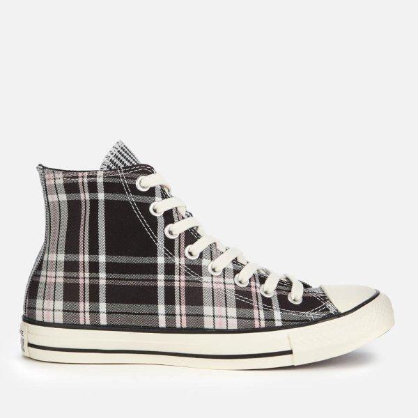 格子帆布鞋