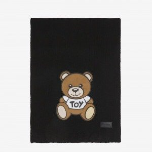 SCARF WITH MOSCHINO TEDDY BEAR DECORATION