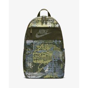 Nike军绿色双肩包