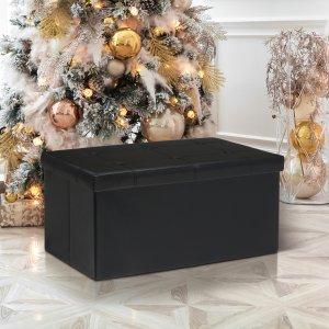 $26.99Otto & Ben 30寸可折叠收纳长凳 黑色/棕色可选