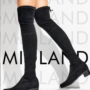 Stuart Weitzman爆款MidlandMIDLAND高筒中跟麂皮靴