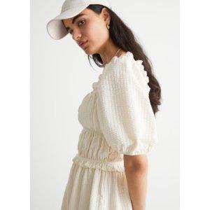 & Other StoriesVoluminous Puff Sleeve Mini Dress