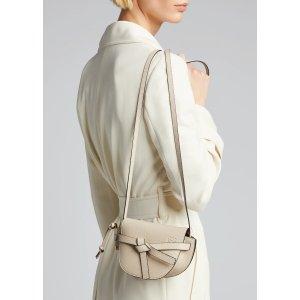 LoeweGate Mini Grain Leather Shoulder Bag