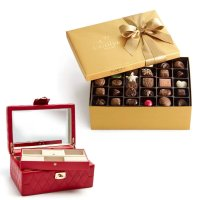 Godiva 金装什锦巧克力礼盒105颗+Red Caroline首饰箱套装