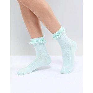 ASOS薄荷绿袜子