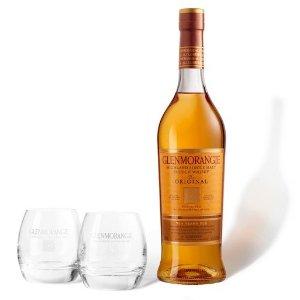 Glenmorangie以实际页面价格为准原味单一麦芽苏格兰威士忌+酒杯2只装