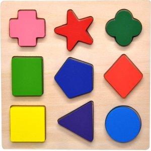 GYBBER&MUMU Wooden Preschool Shape Puzzle @ Amazon