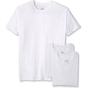 $9.76Hanes Men's 3-Pack Tagless Cotton Crew Neck Undershirts