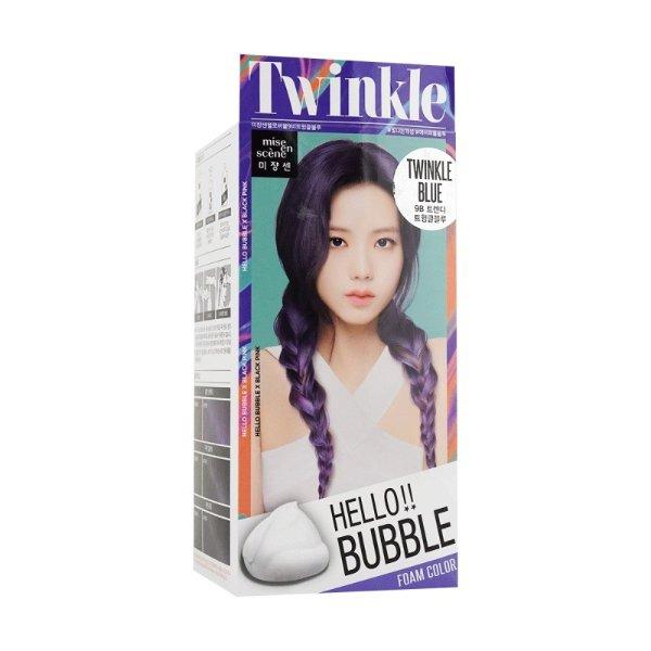 韩国MISE EN SCENE爱茉莉 HELLO BUBBLE泡沫染发剂 9B闪耀蓝 单组入 - 亚米网