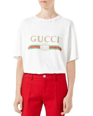 Gucci -Print Cotton Tee, White