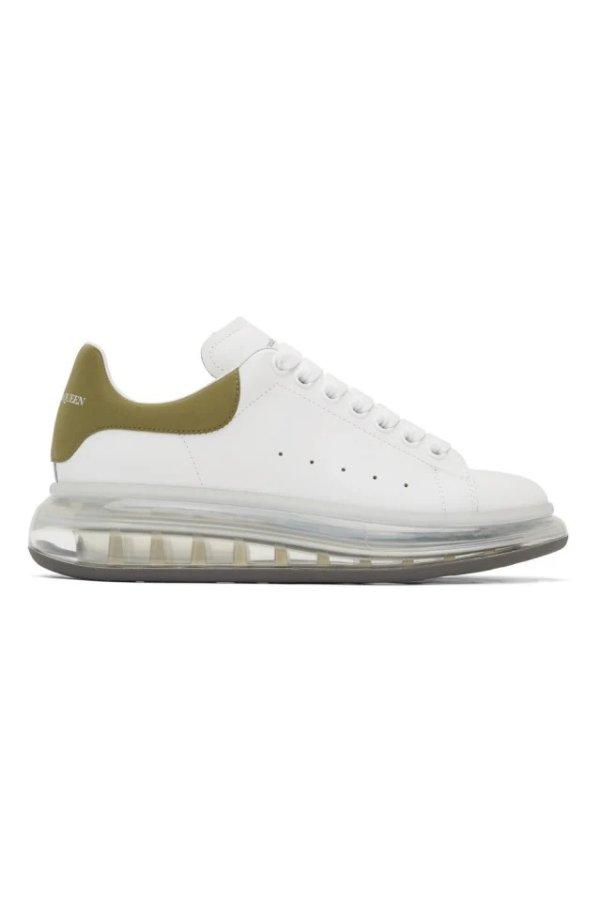 男士透明底小白鞋