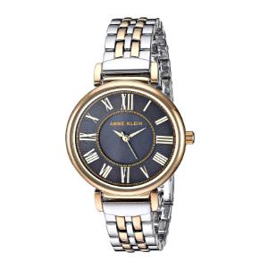 美国直邮¥233史低价:Anne Klein 拼色表带镶钻腕表