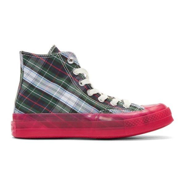 果冻底帆布鞋