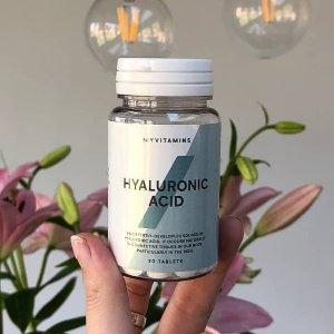 限时5折 折后€7.48My Vitamins 玻尿酸精华片 恢复肌肤弹性 补充关节润滑