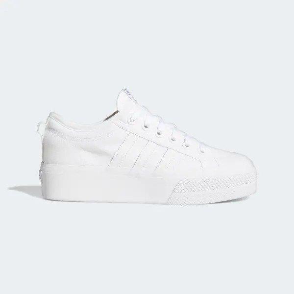 Nizza 厚底小白鞋