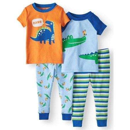 婴儿紧身睡衣4件套