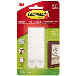 Amazon.com: Command Picture & Frame Hanging Strips 5BQ4X , Large, 8 Pairs: Sports & Outdoors