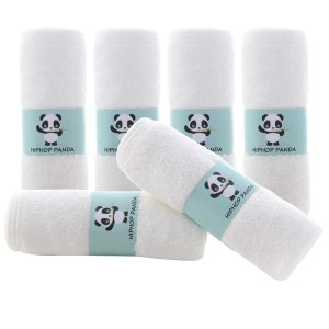 HIPHOP PANDA 竹纤维双层超软小面巾 6条装