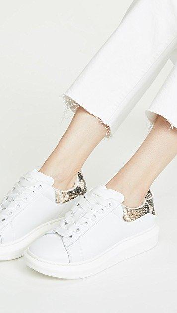 Glazed Lace Up 小白鞋