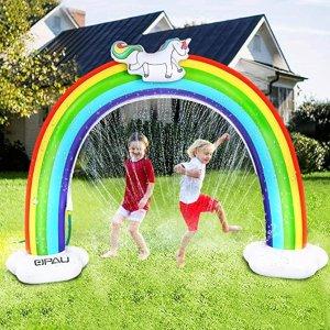 QPAU Rainbow Sprinkler for Kids