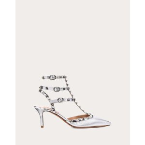 Metallic Rockstud Caged Pump 65mm for Woman | Valentino Online Boutique