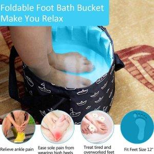 €8.99即可收封面同款便携袋装泡脚桶 可手提 多种用途 折叠收纳 旅行携带超方便