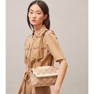Tory BurchFleming Soft Straw Small Convertible Shoulder Bag