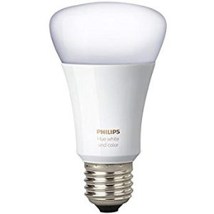 $35Philips Hue White and Color Ambiance A19 60W Equivalent Dimmable LED Smart Bulb