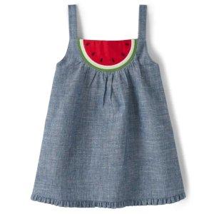 Gymboree100%棉帆布女童西瓜背心裙