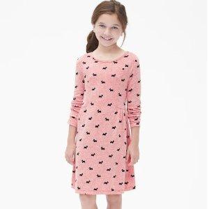 一律6折+额外9折 包臀衫3件$7.55Gap官网 儿童区全场优惠 含特价区 封面裙子$$8.62